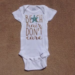 Glitter Beach Hair Dont Care Onesie
